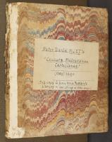 Wide Comb trough-marbled paper, left cover (A.659)