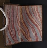 Wide Comb Drawn trough-marbled paper, left endleaf (AA.3.4)