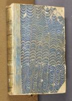 Blue displace-patterned paste paper, left cover (no shelfmark)