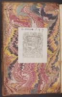 Wide Comb Drawn trough-marbled paper, left endleaf (C.9.7)