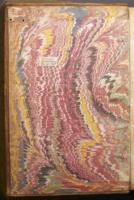 Wide Comb Drawn trough-marbled paper, left endleaf (C.9.9)