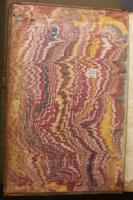 French Curl on Wide Comb trough-marbled paper, left endleaf (C.9.11)
