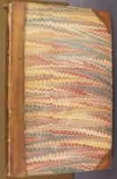 Wide Comb trough-marbled paper, left cover (B.11.16)
