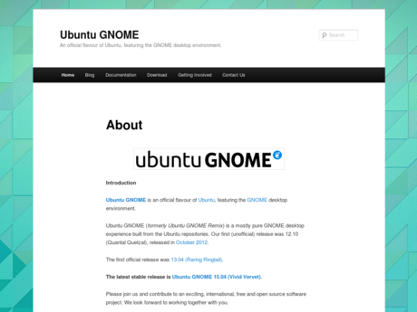Ubuntu GNOME website screenshot