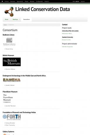 Consortium page screenshot