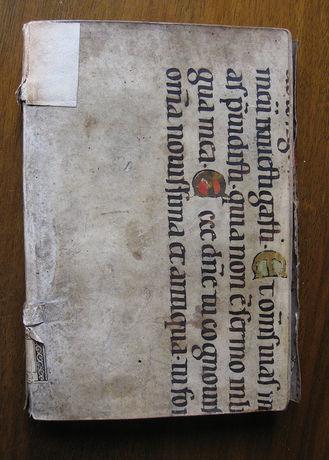 Left cover, Historia dess leidens und stärbens, Konstanz: [Balthasar Romätsch],1545 (Stiftsbiblothek St Gallen, EE r V 26.1)