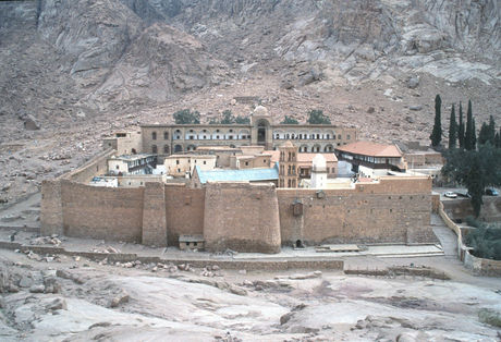 View of the Monastery of Saint Catherine, Sinai