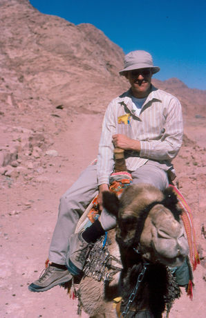 George Boudalis on a camel