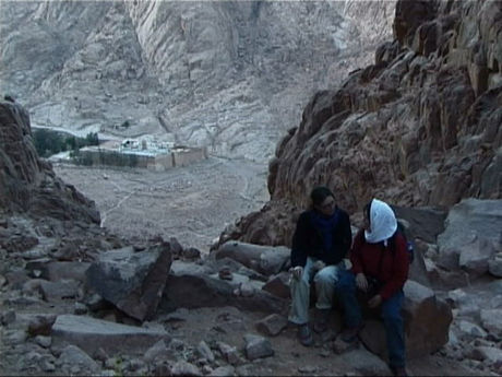 On the way to the top of mount Sinai