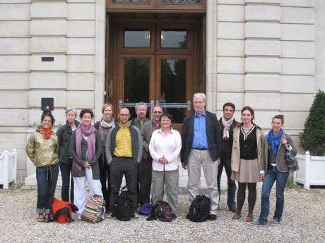 Nicholas Pickwoad with his workshop participants