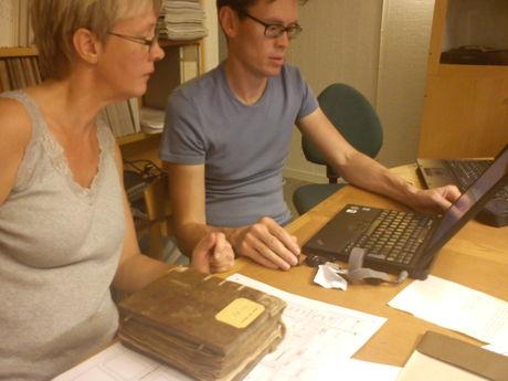Surveying manuscripts at Carolina Rediviva