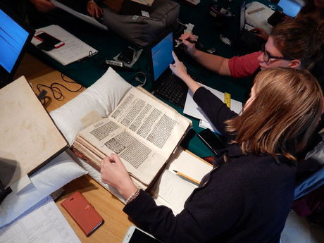 Book documentation in Norwich cathedral library